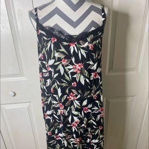 Bobeau Floral  Slip Dress